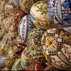 Beautifully intricate Romanian Easter egg patterns