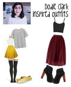 """""""Dodie Clark Inspired Outfits #1"""" by littlebodybigstyle on Polyvore featuring Peony & Moss, Keds and Jeffrey Campbell"""