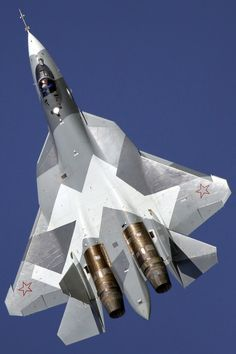 PAK FA Fifth Generation Fighter Aircraft (FGFA) being co-developed by Sukhoi Military Jets, Military Weapons, Air Fighter, Fighter Jets, Russian Military Aircraft, Photo Avion, Russian Fighter, Russian Air Force, Sukhoi
