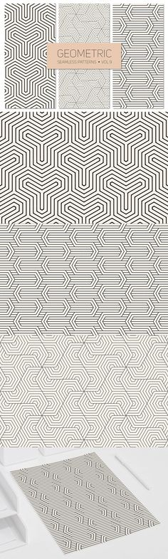 #Free #Geometric Seamless #Patterns  ( #creative #printable #vector #freebies )