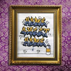 Cross Stitch Graffiti Takes Crafting Back to the Streets #DIY trendhunter.com