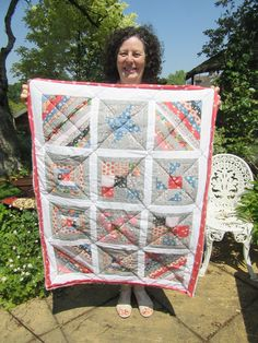 Linda's first sampler quilt - beautiful colours and I love that touch of coral that brings it all together. Students, Coral, Colours, Touch, Quilts, Blanket, My Love, Holiday Decor, Amazing