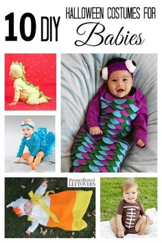 If this is your baby's first Halloween and you are in the mood to craft, here are 10 Adorable DIY Halloween Costumes for Babies to get you going! Baby First Halloween, Baby Halloween Costumes, Baby Costumes, Holidays Halloween, Halloween Diy, Happy Halloween, Free Printable Sewing Patterns, Sewing Hacks, Sewing Tools