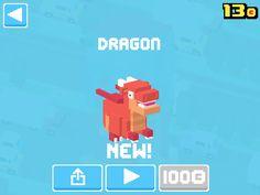 Just unlocked Dragon! #crossyroad