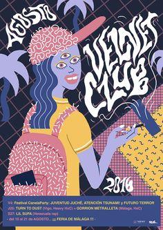 Velvet Club poster on Behance