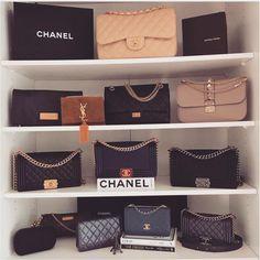 chanel handbags used coco Prada Bag, Chanel Handbags, Gucci Bags, Purses And Handbags, Luxury Bags, Luxury Handbags, Designer Handbags, Designer Bags, Bag Display