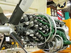 The engine from the Convair B36 bomber. . They were mounted on the trailing edge of the wing and there were 6 of these and four jet engines on this huge aircraft.