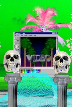 Alternate 80s Aesthetic Vaporwave Follow http://capersnvapors.tumblr.com/  for more Vaporwave art