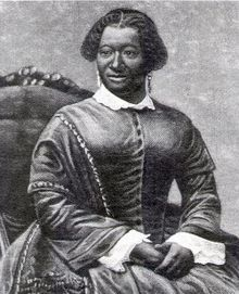 "Elizabeth Taylor Greenfield (1824-1876) was called ""the Black Swan"" because of the elegance of her voice and grace of her state presence. Born a slave in Natchez, MS, she was freed when her mistress joined the Society of Friends. She began studying music in 1846. In 1854, she became the first African American singer to perform for Britain's royal family."