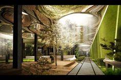Futuristic 'earthscraper'
