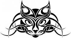 Celtic cat tattoo idea