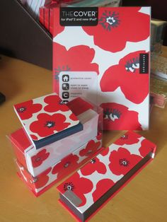 Red Poppy collection to bright up your work space! From $3.95