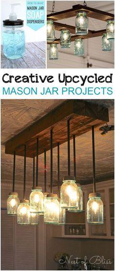 DIY Mason Jar Lights for the bathroom vanity | Bathroom | Pinterest ...