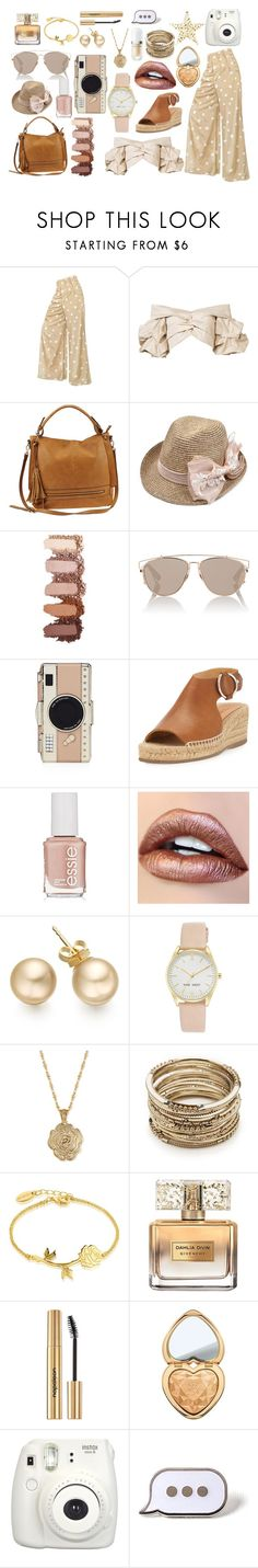 """Gold Coast"" by thetrendsetter13133 ❤ liked on Polyvore featuring Johanna Ortiz, Urban Expressions, Christian Dior, Kate Spade, rag & bone, Essie, Nine West, 2028, Sole Society and Disney"