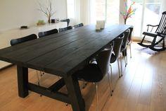 Riihirustiikki lankkupöytä Conference Room, Dining Table, Modern, Furniture, Home Decor, Trendy Tree, Decoration Home, Room Decor, Dinner Table