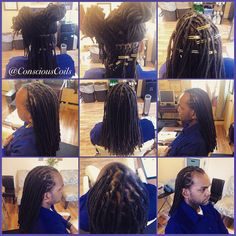Style: Loc Retight/Maintenance  Client's Hair Type: 3c Hair Added: NA Products Used: Coiled! by Conscious Coils (Original Refresher Spray)  Time: 1hr 55mins Style Duration: Retight every 4-6weeks (recommended)