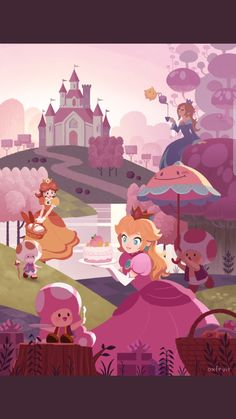 The mushroom kingdom by @oxfruit