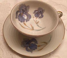 Thomas Germany Teacup Saucer Blue Iris | eBay