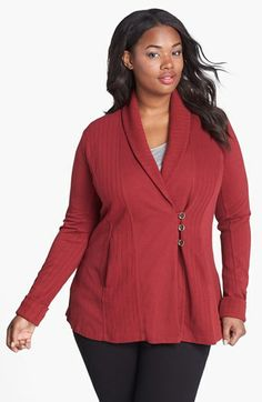 ce47059e2ff3 Lucky Brand  Daryn  Wrap Cardigan (Plus Size) available at  Nordstrom also