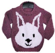 Free Pattern: 4-5 years Rabbit Face Jumper by Denny Gould
