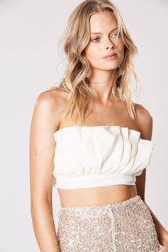 AMITY FRILL TOP Frill Tops, Tie Backs, Natural Linen, No Frills, Crop Tops, Elegant, Model, How To Wear, Beautiful