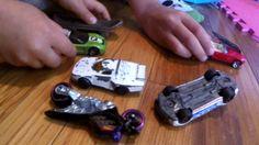 Kids Playing HOT WHEELS Crash and Smash Trucks, Toy CARS Action!