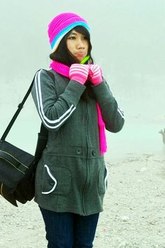 #Photography #Girl #KawahPutih #Pretty #Cold