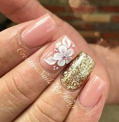 Acrylic Nails Coffin Classy, Best Acrylic Nails, Acrylic Nail Designs, Glam Nails, 3d Nails, Beauty Nails, Perfect Nails, Gorgeous Nails, Pretty Nails
