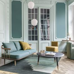 Pretty teal and soft blue with hits of mustard  love the color scheme At home you want to make things pretty, walking through the door and getting that feeling you are home. ⠀ #FibreGuard #easyclean #furnishing #textiles ⠀ #stainfree #interiordesign #decoinspiration #performancefabric #petfriendly #fabrics #stylish #roominspiration #interiorgoals
