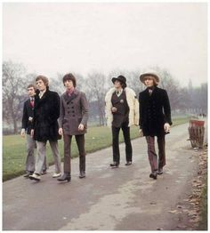 The Rolling Stones take a stroll in a London park. Left to right: Charlie Watts, Mick Jagger, Bill Wyman, Keith Richards and Brian Jones. Get premium, high resolution news photos at Getty Images Keith Richards, Mick Jagger, The Rolling Stones, Ronnie Wood, Jimi Hendrix, Funeral, Top 10 Albums, Creedence Clearwater Revival, Charlie Watts