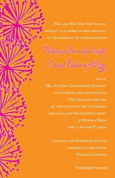 Wedding Invitation. Replace pink with red.