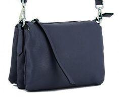 !!!Handtasche dunkelblau Three Navy Leder Gianni Chiarini Clutch, Shoulder Bag, Bags, Fashion, Silver, Leather, Handbags, Moda, La Mode