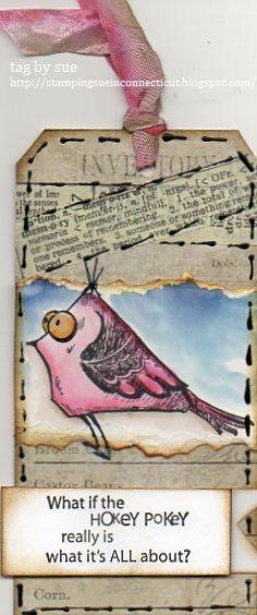 Embarrassed bird by stamprsue - Cards and Paper Crafts at Splitcoaststampers
