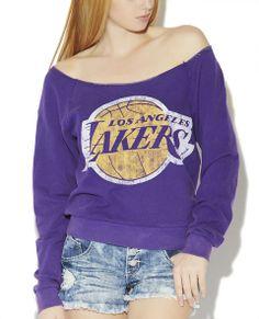 LA Lakers off the shoulder Sweatshirt - Wet Seal