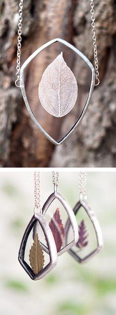 Botanical pressed necklace