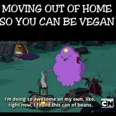 Moving out of home so you can be vegan / vegan meme / vegan humor / vegan lifestyle