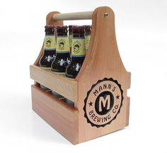 Custom Beer Carrier Cool Mom Picks - The Coolest Personalized Father's Day Gifts: 2013 Father's Day Gift Guide