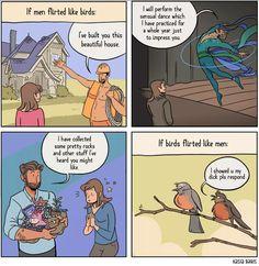i wish everyone flirted like birds