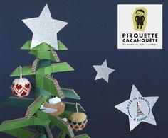 """Un sapin """"J'aime le Carton"""", des boules de noël """"les Toisons de Couleurs"""", un oiseau """"Pirouette Cacahouète"""" : Youpi, c'est bientôt Noël !!"""