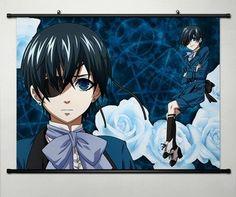 Japan Anime Cosplay KOROSHITSUJI Black Butler 2 Home Decor Wall Scroll Poster Alois Trancy 23.6 x 17.7 inches -052