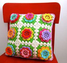 rosy posy cushion   Flickr - Photo Sharing!