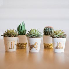 Love will be in full bloom when your wedding guests see these Let Love Grow Flowerpots. Warning: You'll love these so much, you may want a set also! Why not make one for yourself,