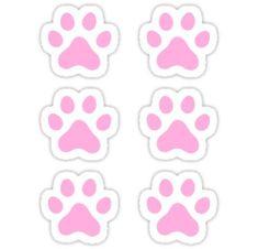 Pink paw print stickers, set of six Sticker Sky Paw Patrol, Paw Patrol Party, Paw Patrol Christmas, Paw Patrol Birthday Cake, Image Deco, My Little Pony Rarity, Creations, Disney, Crafts