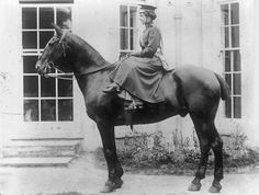 WW1 Womens Yeomanry nursing corps — some were mounted to get in faster to help the wounded… even though they had to wear skirts and ride side-saddle c,1917