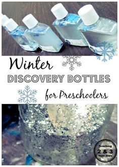 Winter Discovery Bottles for Preschoolers from Teaching 2 and 3 Year Olds