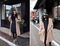 Transition your dressed in winter by adding a coat, tights, booties, and of course accessories