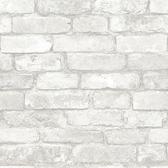 """Fashion your own brick wall in a matter of minutes with this chic peel and stick wallpaper. Treated to a beautiful rustic finish, this grey and white faux brick design brings a dimensional look to walls that's both authentic and grand. Printed on a premium substrate that is completely removable, this easy to install wallpaper helps you refresh your home quickly and easily. Comes on a 20.5"""" x 18' roll."""