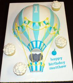 hot air ballon cakes - Cutest cake ever! Balloon Birthday Cakes, First Birthday Cakes, First Birthday Parties, First Birthdays, Birthday Ideas, Balloon Party, Birthday Bash, Baby Birthday, Hot Air Balloon Cake