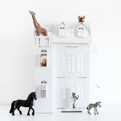 White Paper Doll House