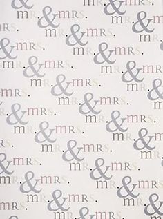 Mr. & Mrs. Wrapping Paper